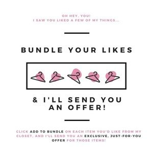 Bundle Your Likes & I'll Send An Offer